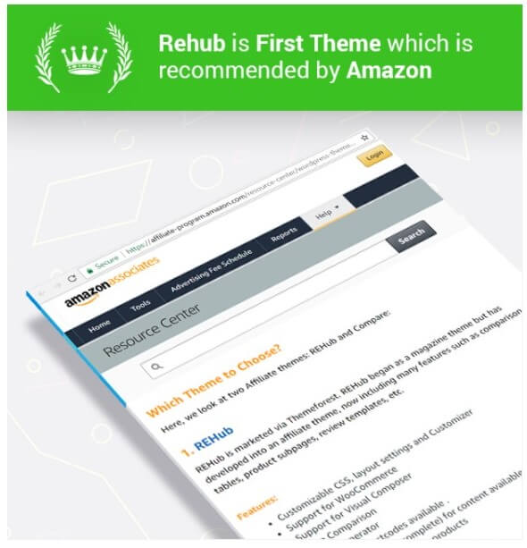 Amazon-Recommended-Rehub-Theme