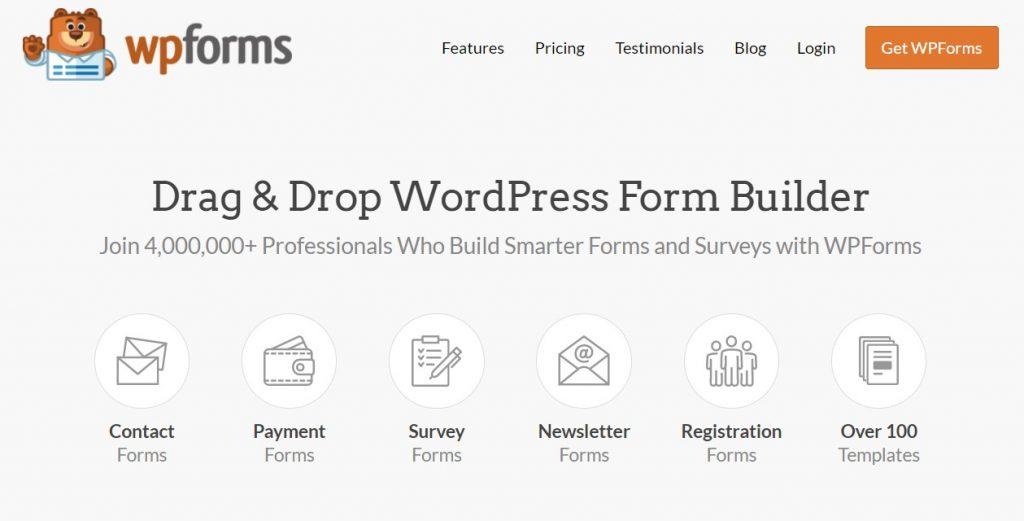 WPForms - Best Blog Plugin for WordPress