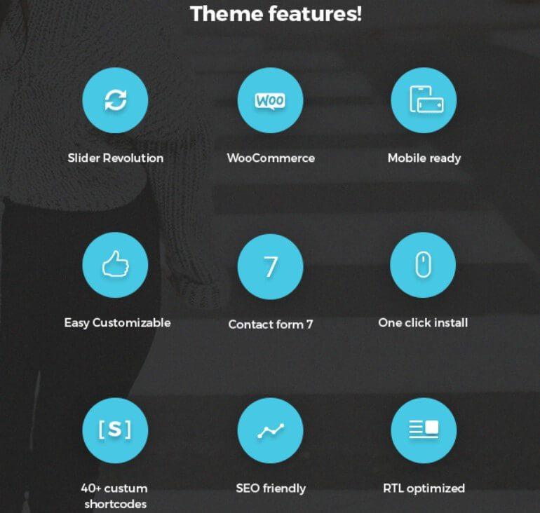 Jevelin Theme Features