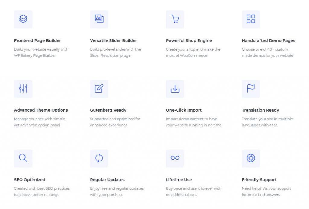Jevelin WordPress Theme Features
