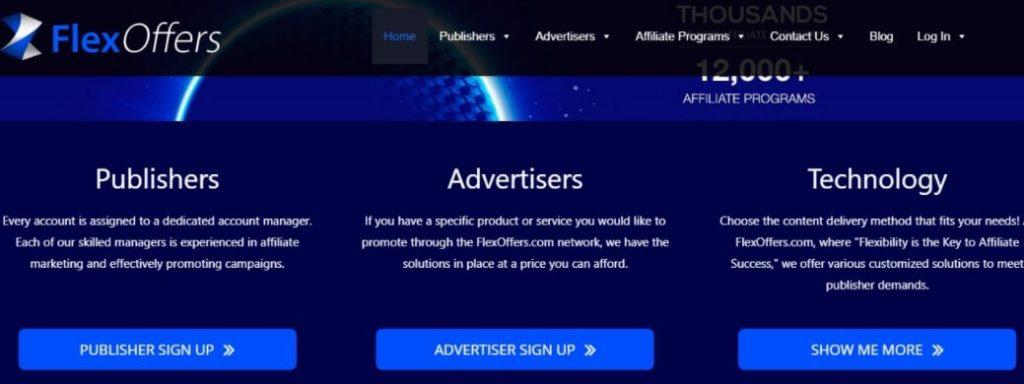 Flexoffers the top affiliate marketing platforms